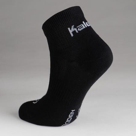Paquete de 3 pares calcetines atletismo negro cortos junior
