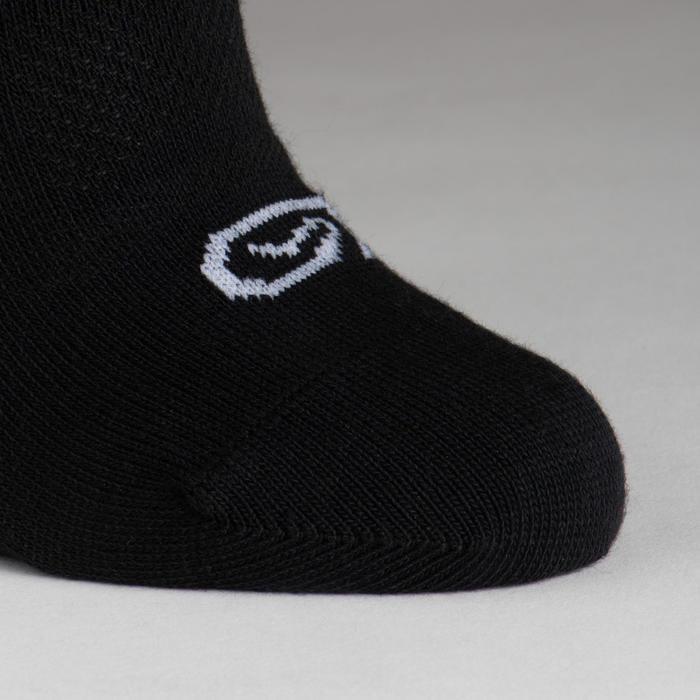 Lot de 3 chaussettes enfant d'athlétisme noires tige basse