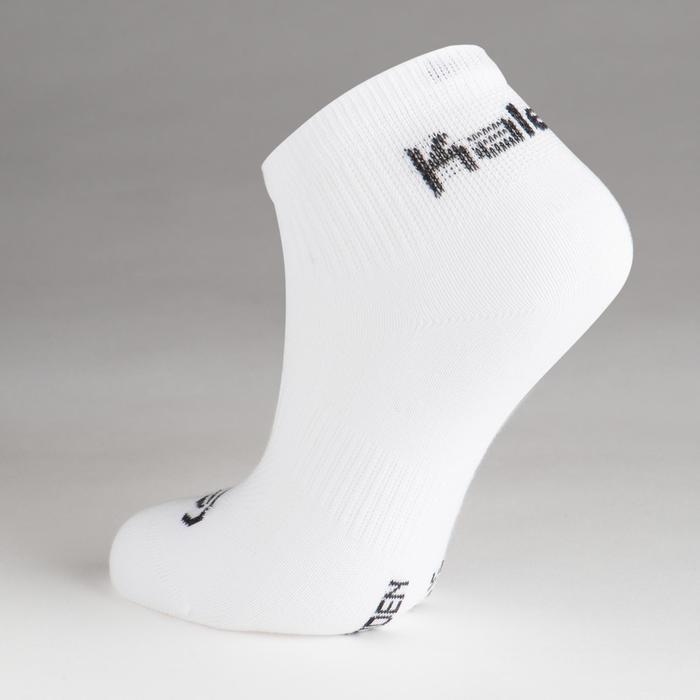 Lot de 3 chaussettes enfant d'athlétisme blanches tige basse