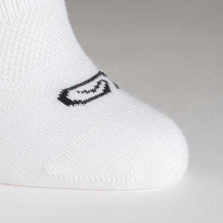 Paquete de 3 pares calcetines atletismo blanco cortos junior