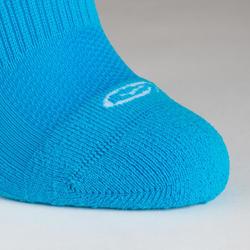 Lot 2 paires de chaussettes athlétisme enfant confort tige haute turquoise