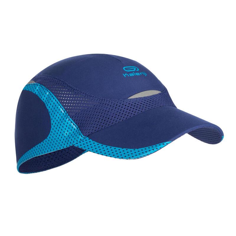 casquette enfant de running bleu marine bleu ciel
