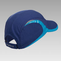 Kid's running cap - navy and sky blue
