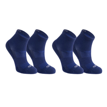 Confort children's athletics socks high pack of 2 ink blue