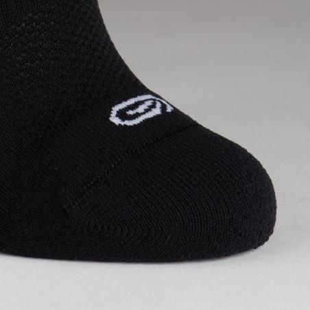 Chaussettes athlétisme enfant Invisible lot 2 blanc noir