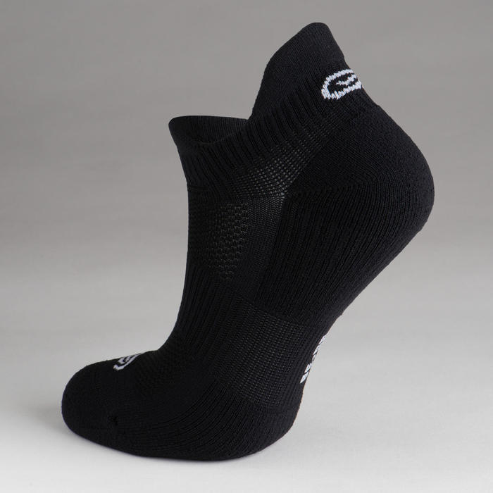 兒童田徑隱形襪2雙入黑色白色