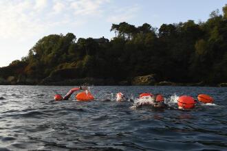 Nadar em águas abertas na Ilha de São Miguel, Açores