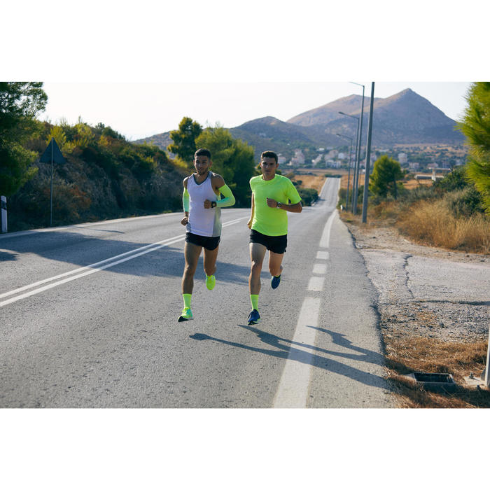 KIPRUN COLD PROTECTION RUNNING SLEEVES - YELLOW