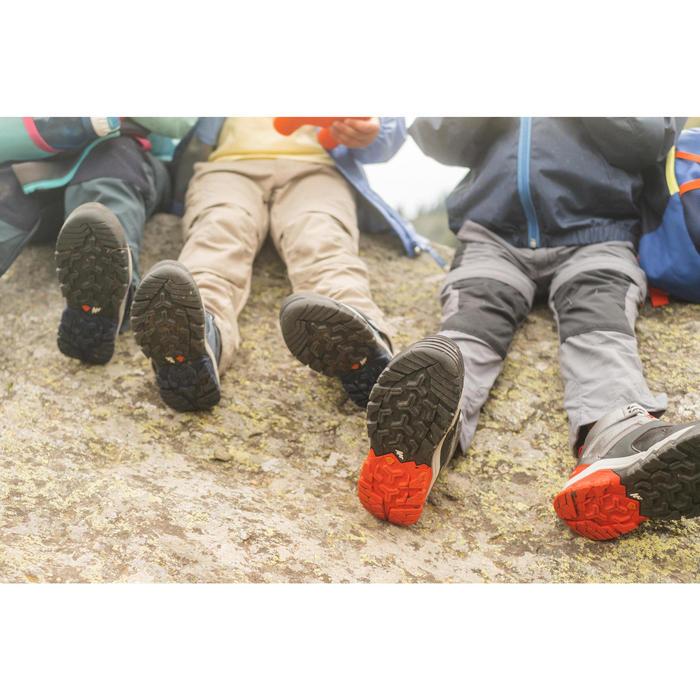 兒童款綁帶中筒防水健行鞋CROSSROCK-灰色