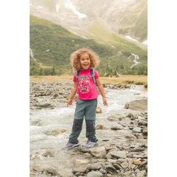 T-shirt de randonnée - MH100 KID rose - enfant