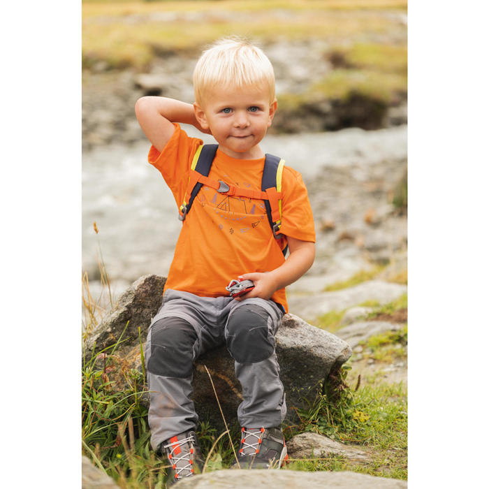 T-shirt de randonnée - MH100 orange - enfant
