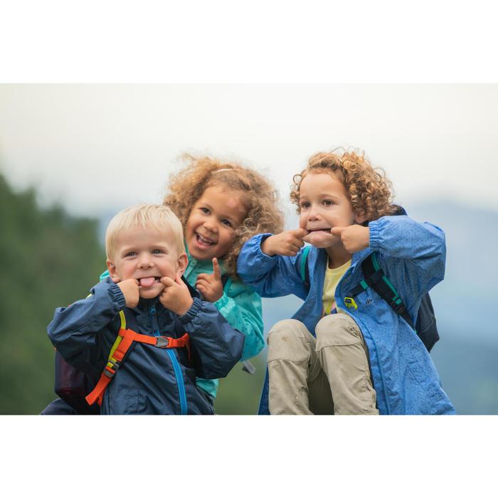 Regenjas voor wandelen kinderen MH500 blauw 2-6 jaar