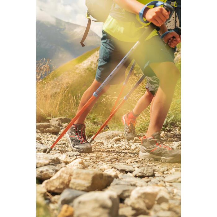Chaussures de randonnée montagne basses avec lacet garçon Crossrock rouges 35-38
