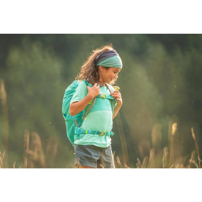 兒童款健行T恤 MH550-淺碧藍色