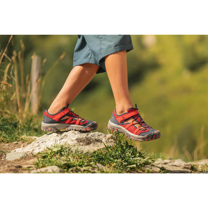 男童款健行涼鞋 MH150-紅色