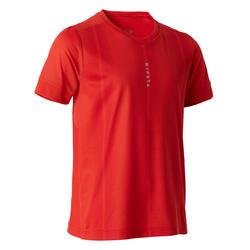 T-shirt de Futebol F500 Criança Vermelho