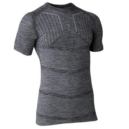 Adult Short-Sleeved Thermal Base Layer Keepdry 500 - Grey