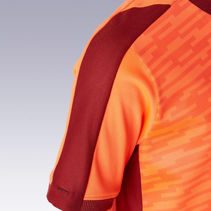 Voetbalshirt met korte mouwen voor kinderen F520 oranje en bordeaux