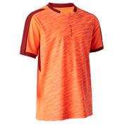 Camiseta de Fútbol Kipsta F520 niños naranja y burdeos