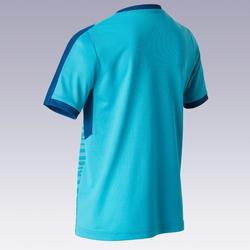 Camisola Futebol F520 Criança turquesa e azul