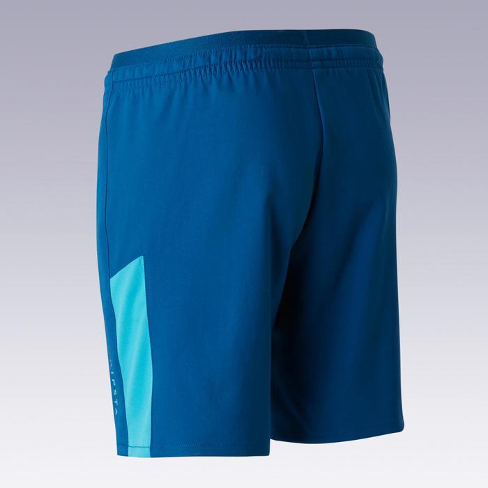 Short de football enfant F520 bleu et turquoise