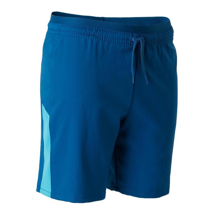 兒童款足球短褲F520-藍/湖水綠