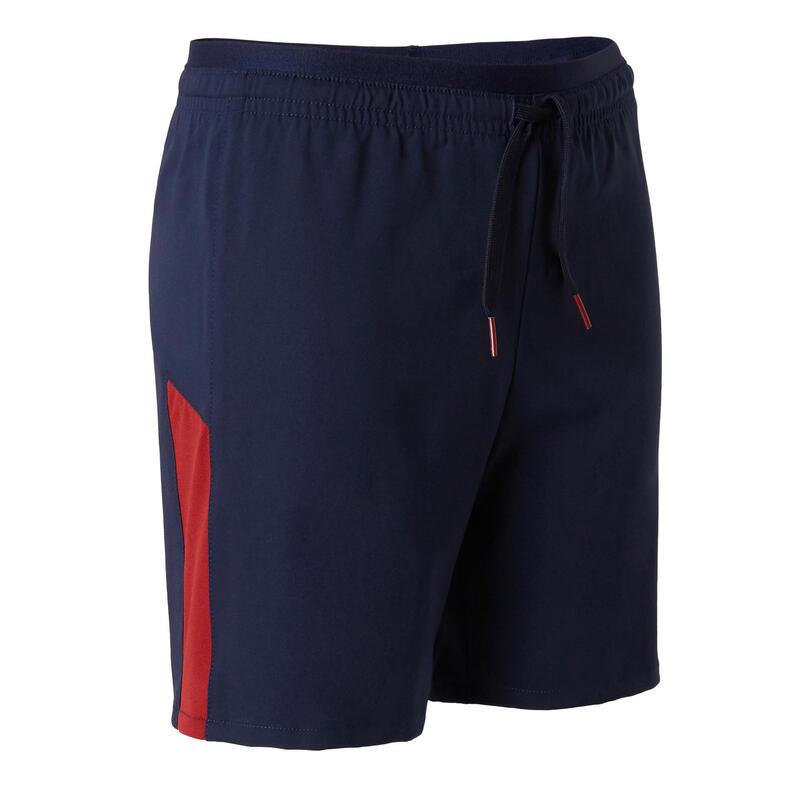 Kids' Football Shorts F520 - Navy/Burgundy