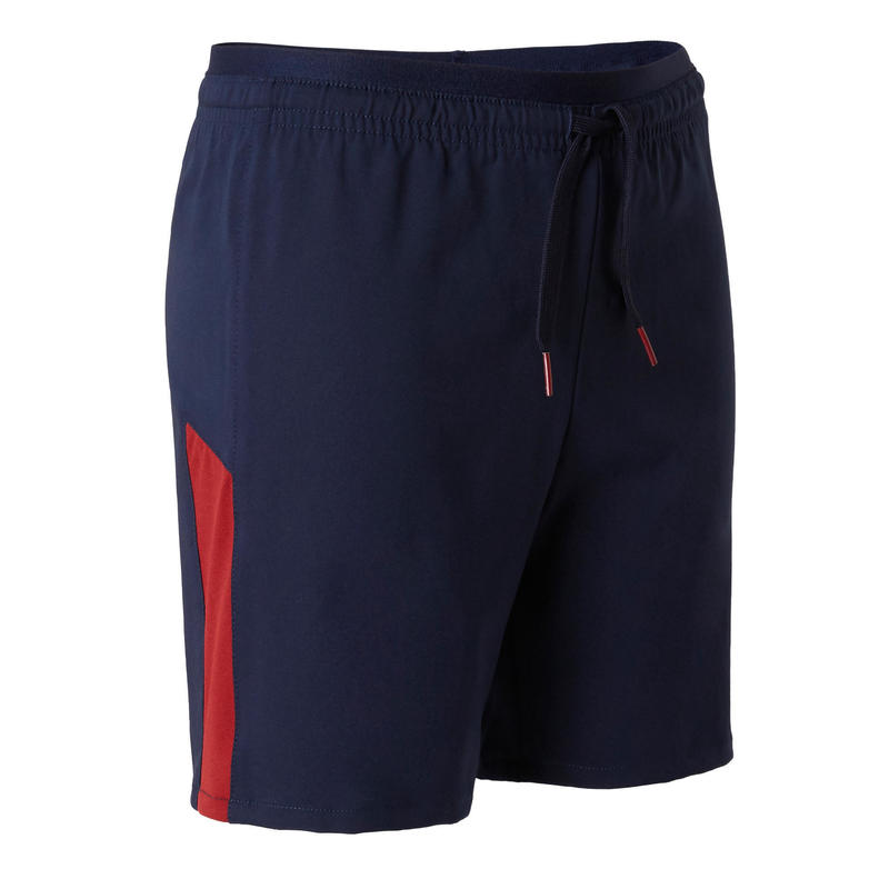 Short de football enfant F520 marine et bordeaux