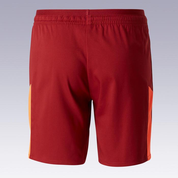 Voetbalshort voor kinderen F520 bordeaux en oranje