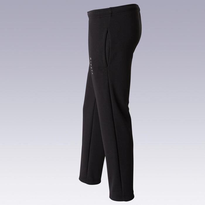 兒童款足球訓練長褲T100-黑色