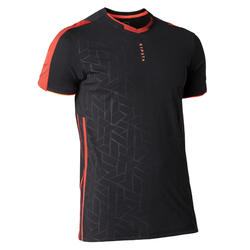 Voetbalshirt voor volwassenen TRAXIUM zwart/rood