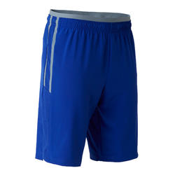 Short de football adulte 3 en 1 TRAXIUM bleu