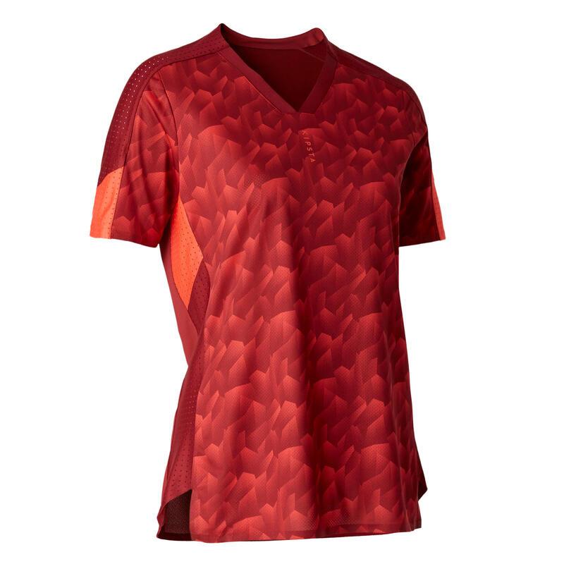 Camiseta de Fútbol Kipsta F900 Mujer Burdeos