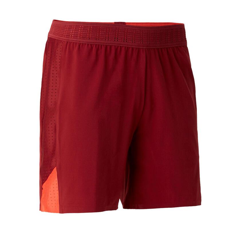 Pantalón Corto de Fútbol Kipsta F900 mujer rojo burdeos