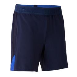 Short de football femme F900 bleu.