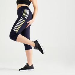 Corsaire fitness cardio training femme bleu marine 120