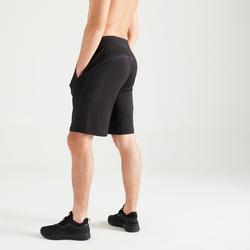 Naadloze short voor cardiofitness heren 900 zwart