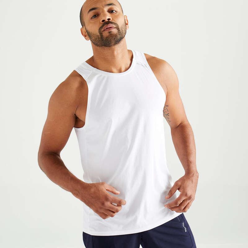 Fitnesz Cardio Férfi ruházat kezdő Fitnesz, jóga - Férfi ujjatlan felső FTA 500 DOMYOS - Férfi kardió ruházat, cipő