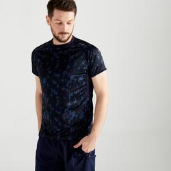 有氧健身T-Shirt FTS 120-深藍色迷彩