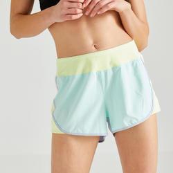 Damesshort voor cardiofitness loose 500 colorblock