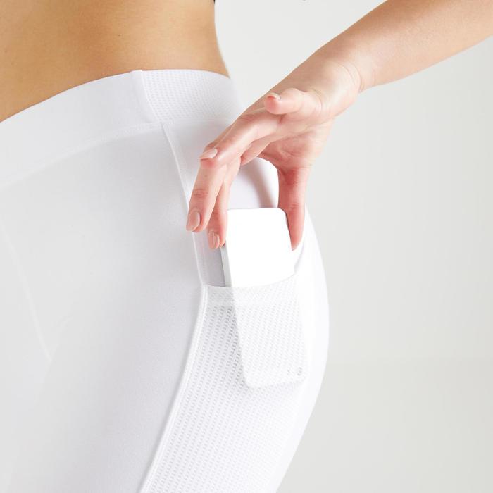 Legging cardio fitness femme blanc 120