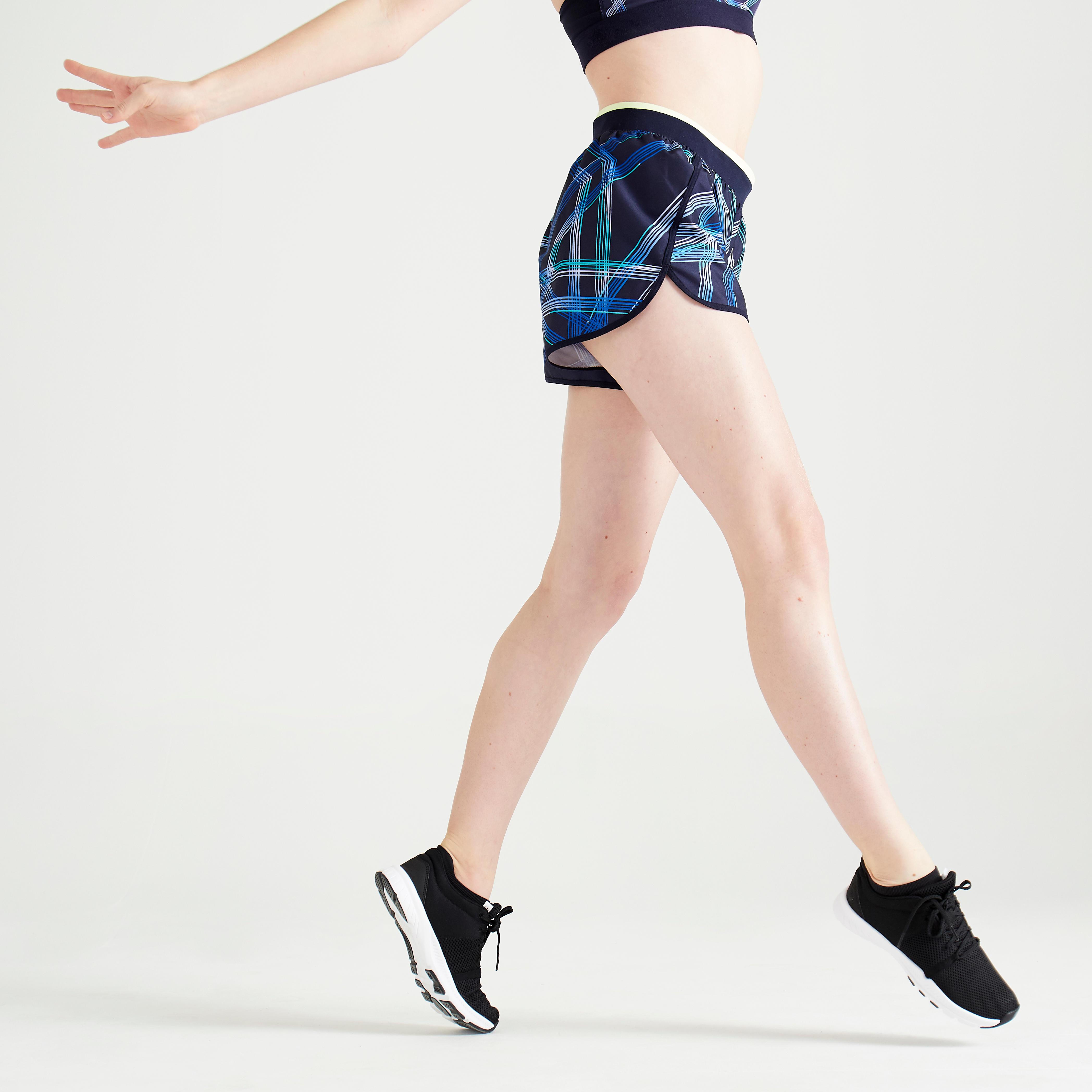 Șort Fitness 100 Imprimeu Damă