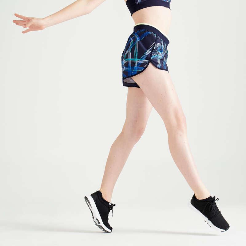 ABBIGLIAMENTO FITNESS CARDIO DONNA Fitness - Pantaloncini donna fitness 100 DOMYOS - Abbigliamento palestra