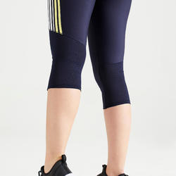 Women's Cardio Fitness Cropped Bottoms 120 - Navy Blue