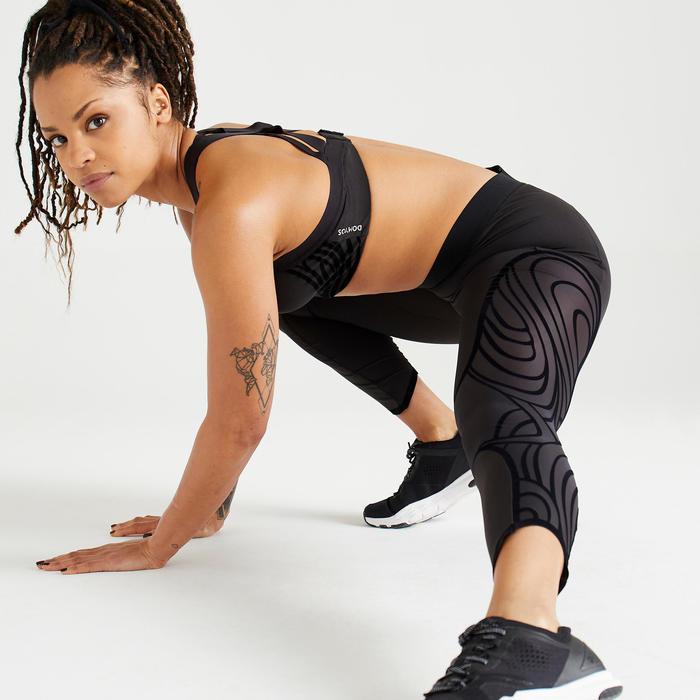 Women's Cardio Fitness Training 7/8 Leggings 921 - Black