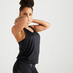 女款有氧訓練訓練背心900 - 黑色