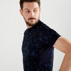 Cardio Fitness T-Shirt FTS 120 - Dark Blue Camo