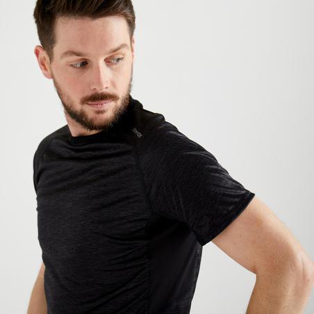 FTS 120 Fitness Cardio Training T-Shirt - Grey/Black
