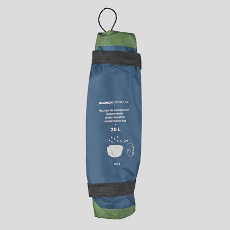 Funda de Compresión Camping Trekking Forclaz Impermeable 20 litros