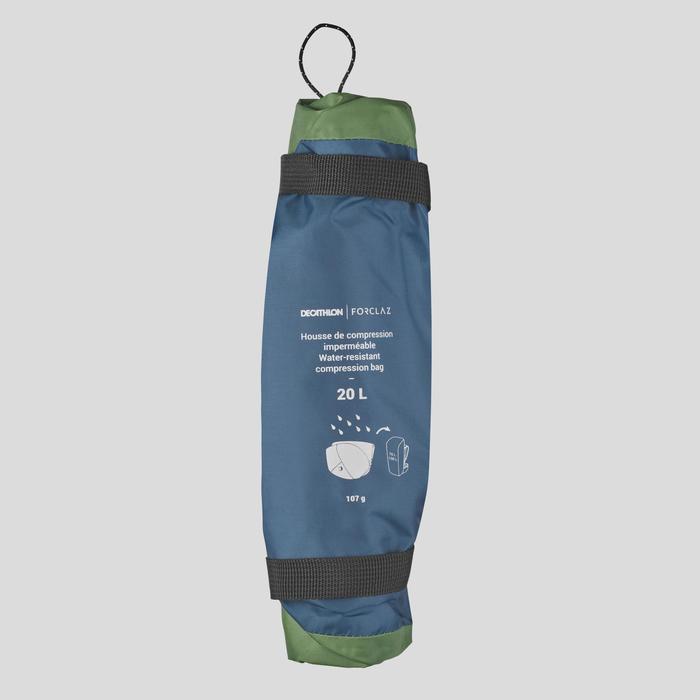 Waterdichte compressiehoes voor trekrugzak - 20 liter